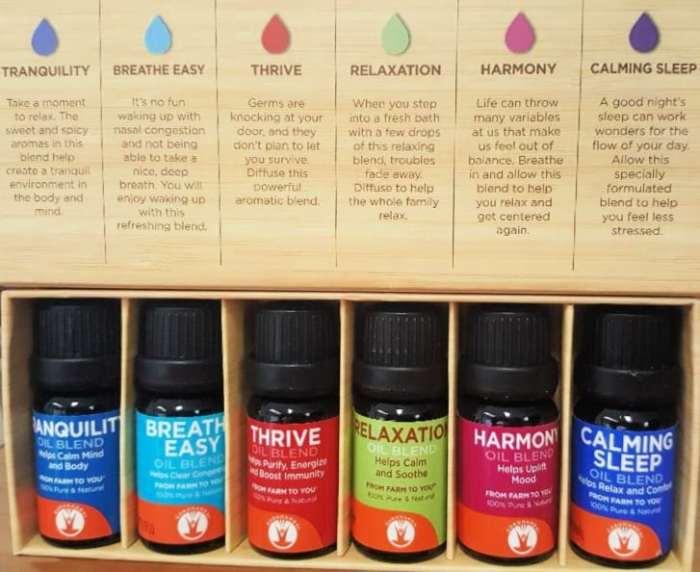 gurunanda top six essential oil sampler set