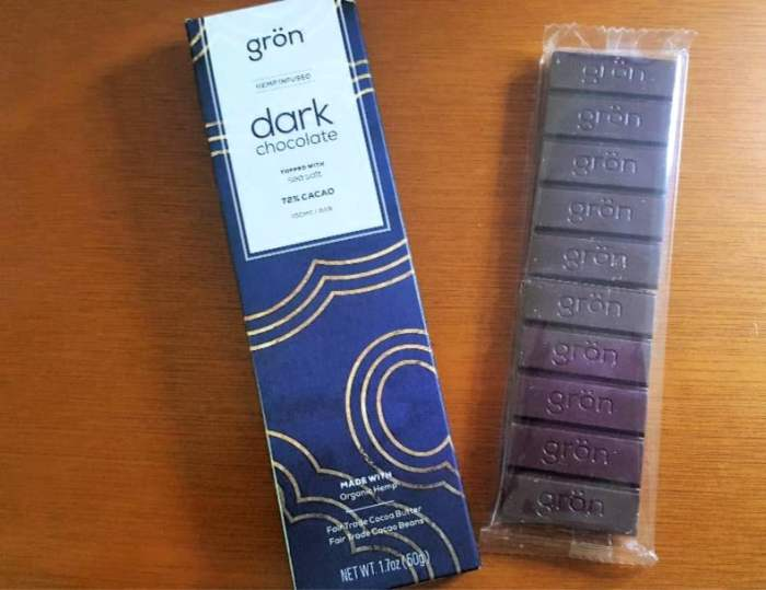 find your bliss with cbd gron dark chocolate cbd infused