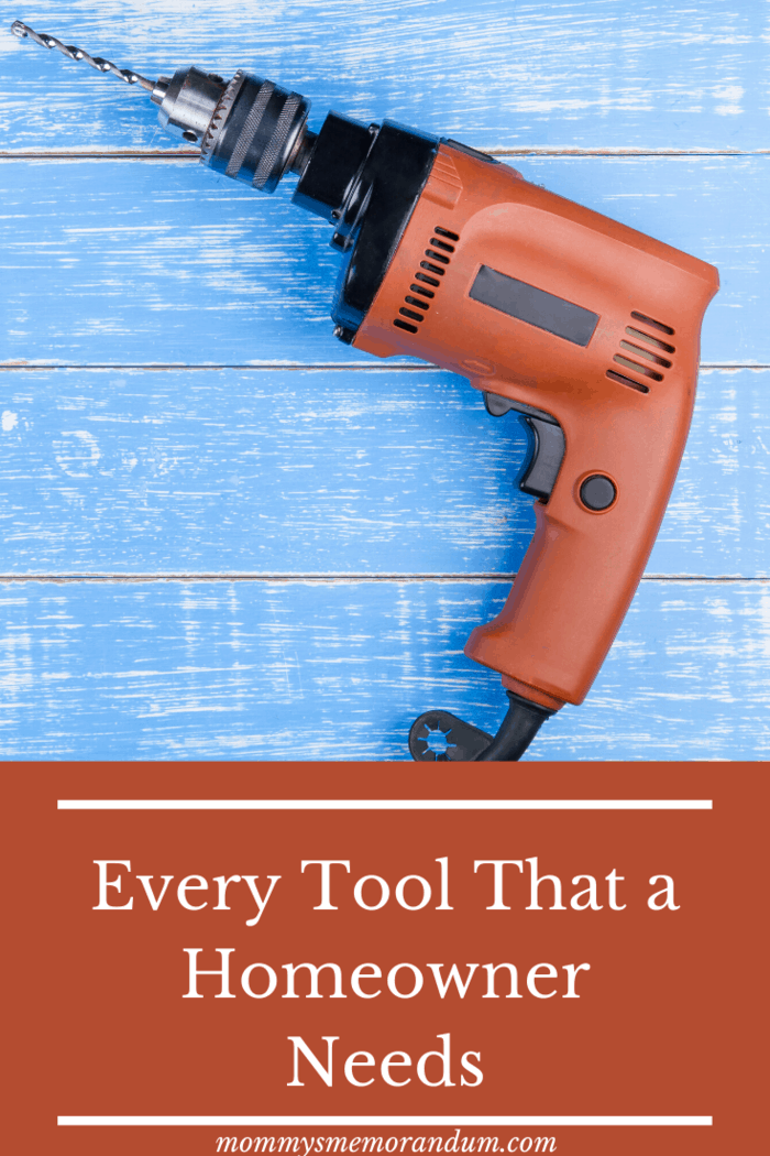 Every Tool That a Homeowner Needs: A drill is necessary for boring holes on different surfaces.