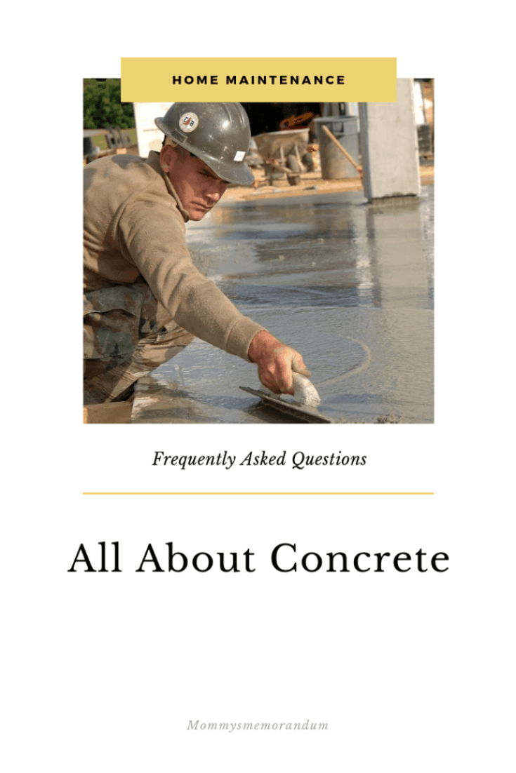 8 Frequently Asked Questions About Concrete
