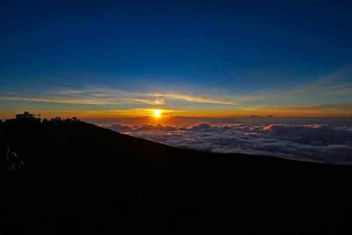 Sunset while visiting Haleakala National Park
