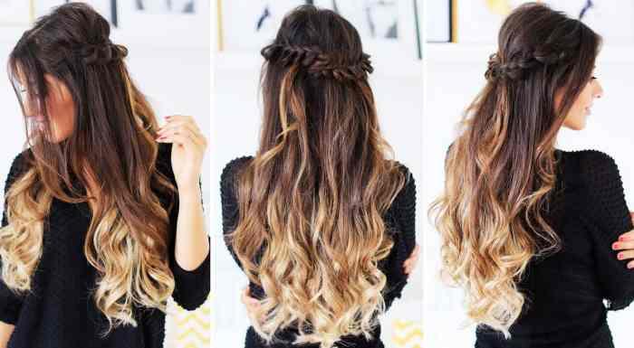 half up braid beach inspired hairstyles