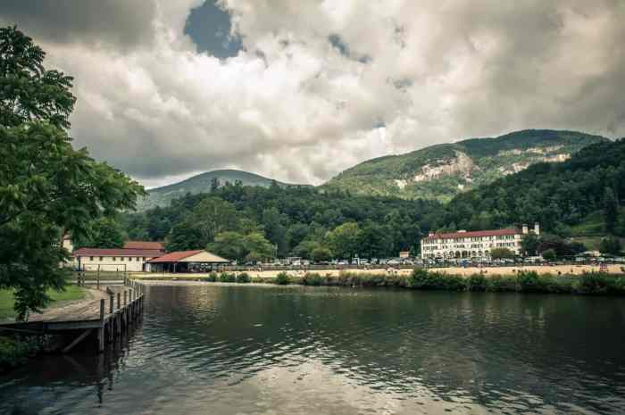lake lure inn and spa in distance