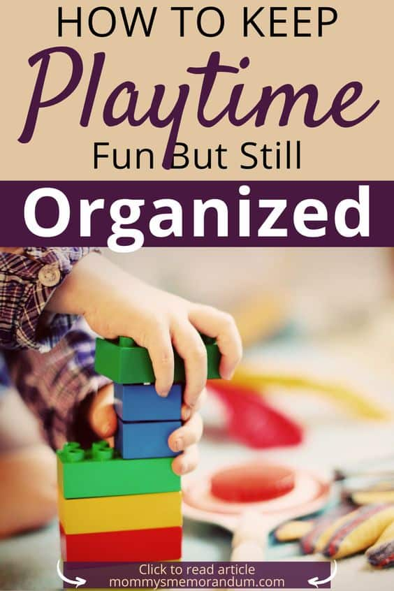 One way to keep playtime fun and to reduce messes is to buy toys that help children stay organized.