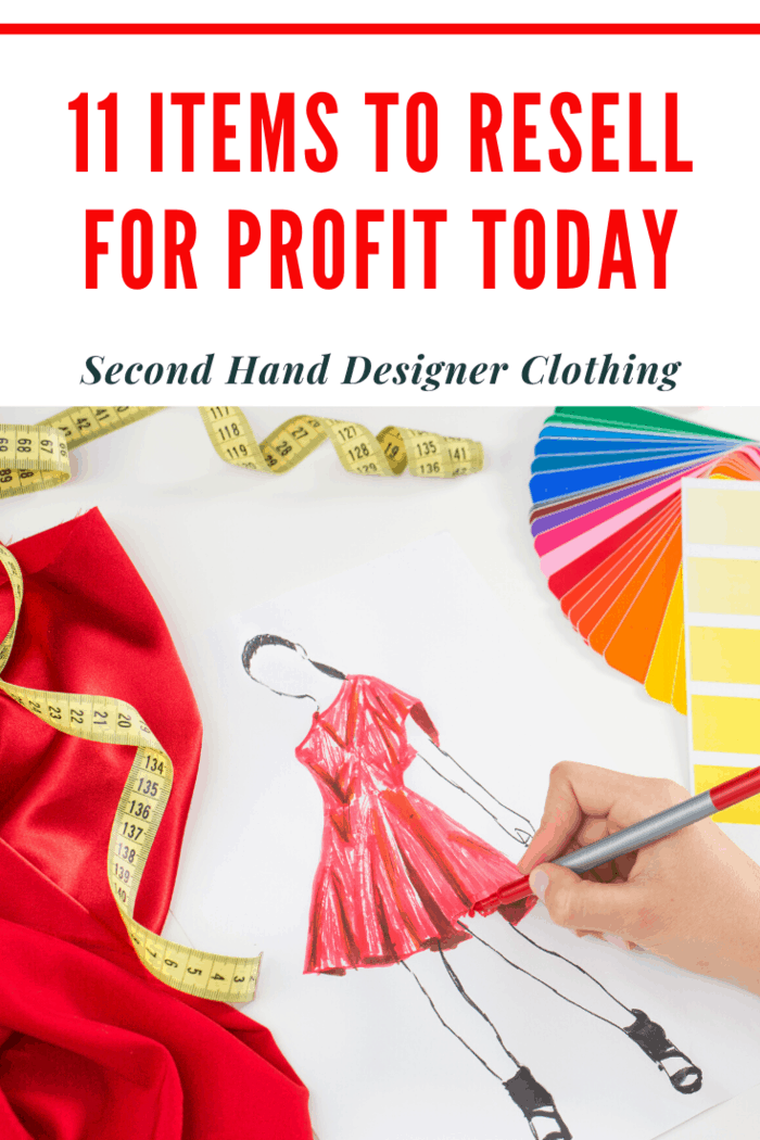 Look for brands that always do well, like Balenciaga, Chanel, Dior, and Gucci. It's best if you can find garments that still have their tags on and are in excellent condition.