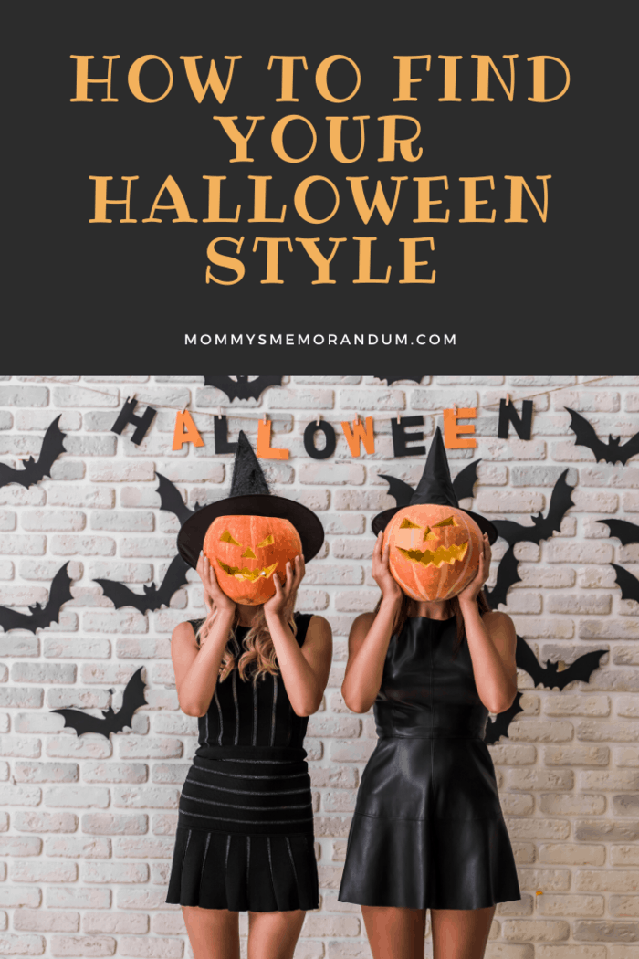 trick or treaters dressed as witches holding carved jack-o-lanterns up as their faces
