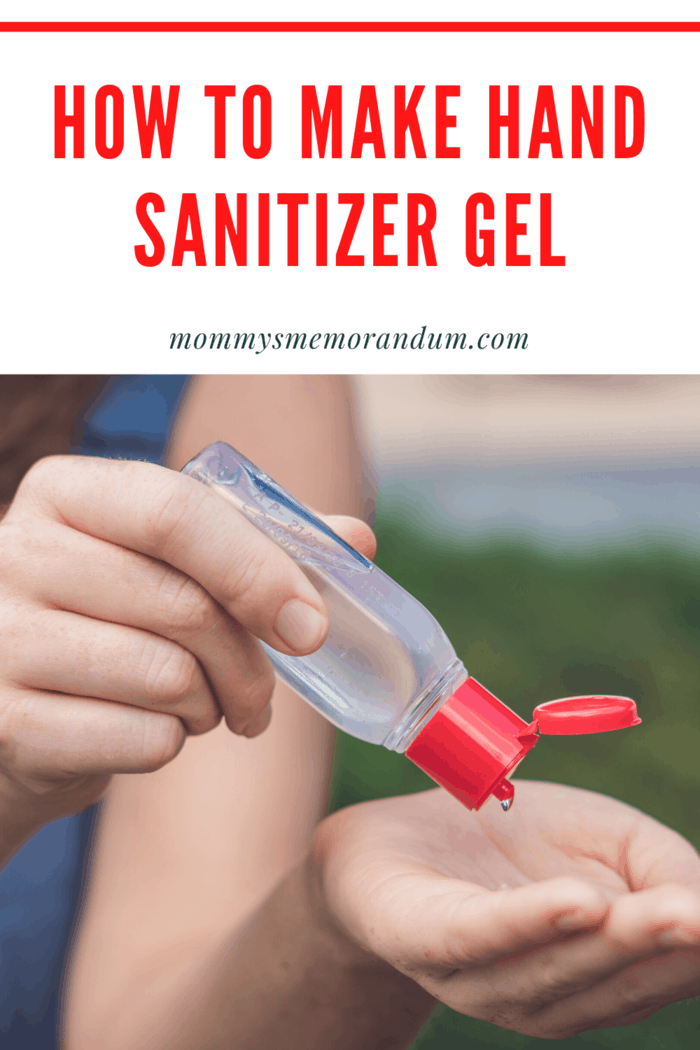 Here's how to make Hand Sanitizer Gel: