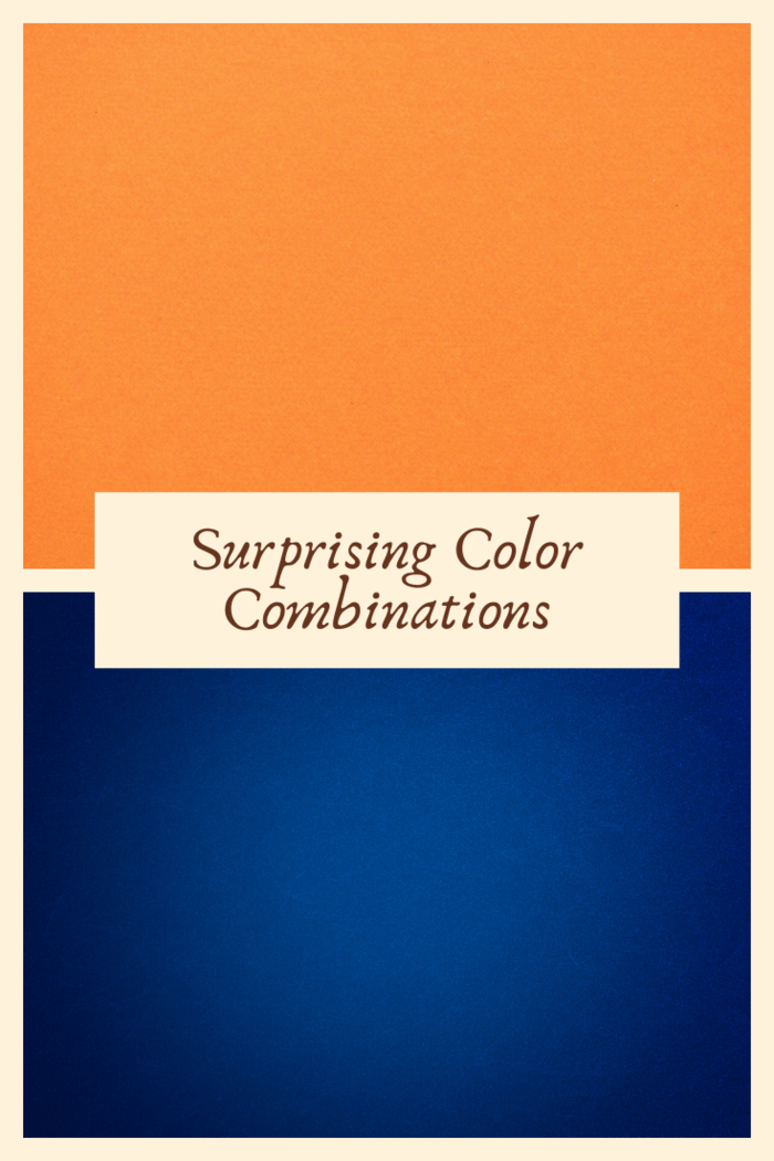 Anyone who looks at a color wheel will note that the contrasting colors of orange and blue pair well together.