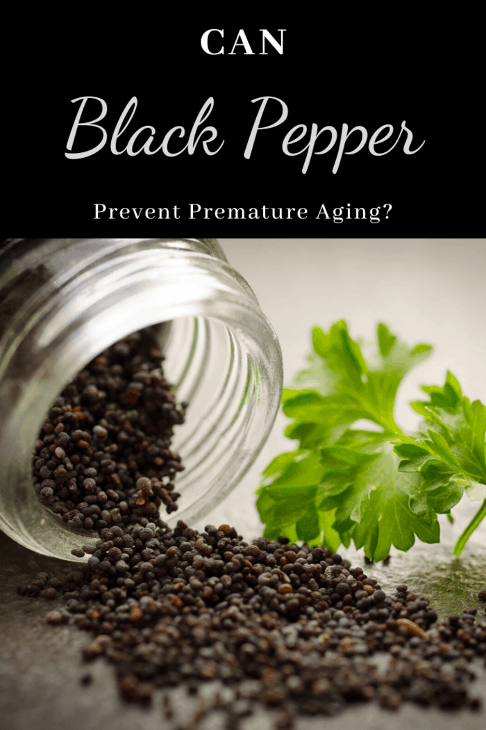 Black pepper extract is rich in antioxidants and has shown to reduce the presence of free radicals over time.