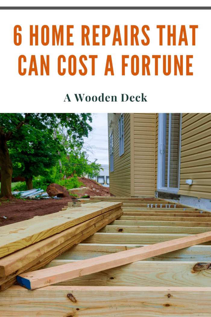 Maintaining your deck is not costly. You'll need to clean it, varnish, refresh the color and use a sealant to keep moisture from damaging the wood. But if you neglect to do these things, it will deteriorate. Then, you'll be looking at paying in the high thousands, maybe even up to $10,000 to replace the whole deck.