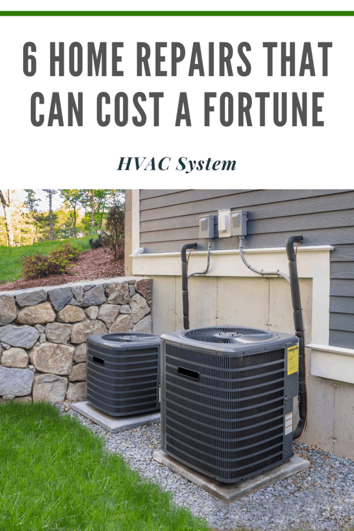 At the low end of the scale, repairing an HVAC unit can set you back around $100. At the high end, you could be out over $1000.