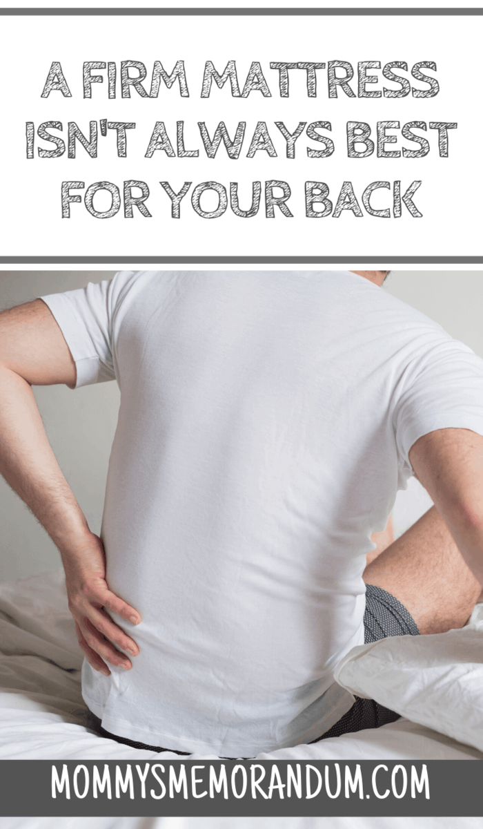Before you choose a firm mattress, you should think twice, especially if you have frequent low back pain. If so, the best option for you is a medium-firm mattress.