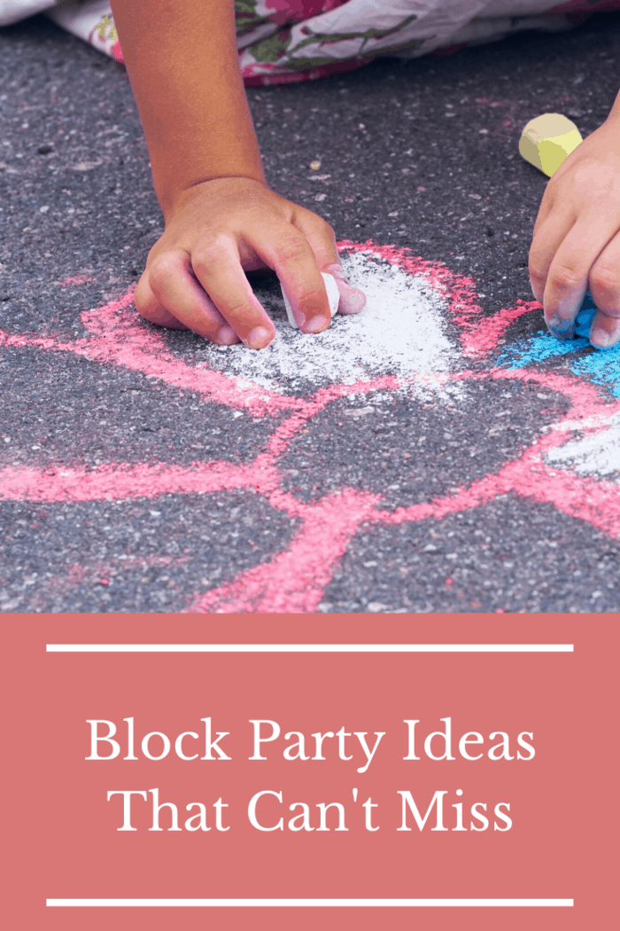 Another activity that's fun for the whole family is decorating your neighborhood's sidewalks and driveways with chalk!