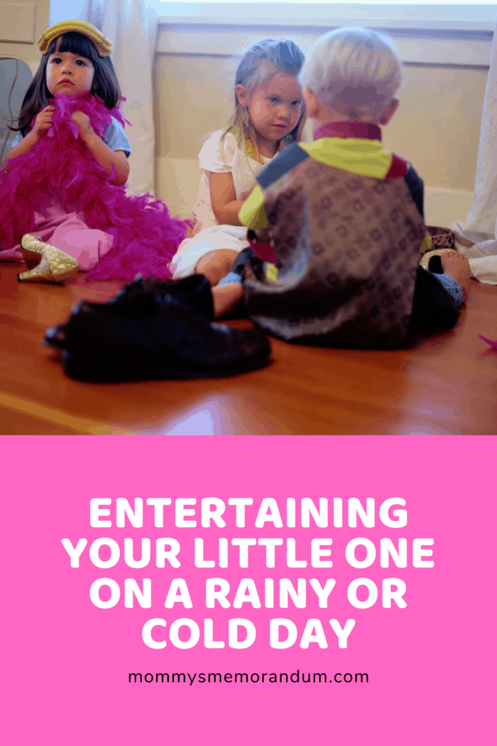 Playing dress up is one great way of entertaining your little one on a rainy or cold day.