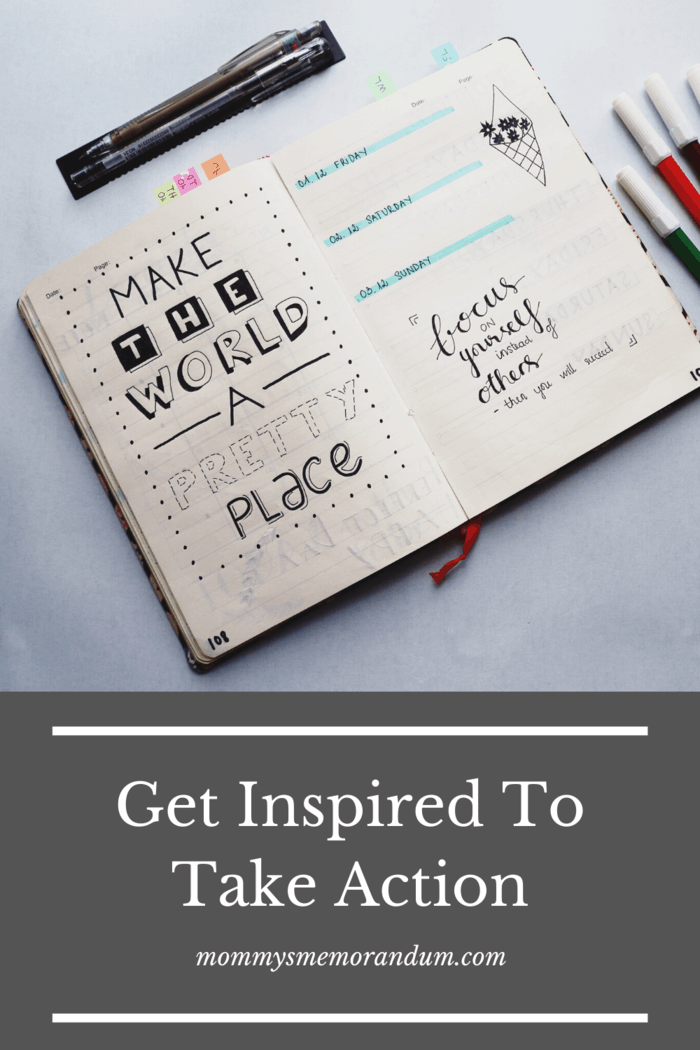 Not only is this a good way to get inspired, but it is an excellent way to organize your thoughts.