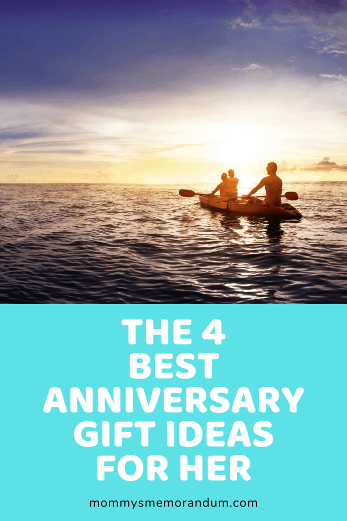 Anniversary Gift Ideas for her: Kayaking or an adventure she loves