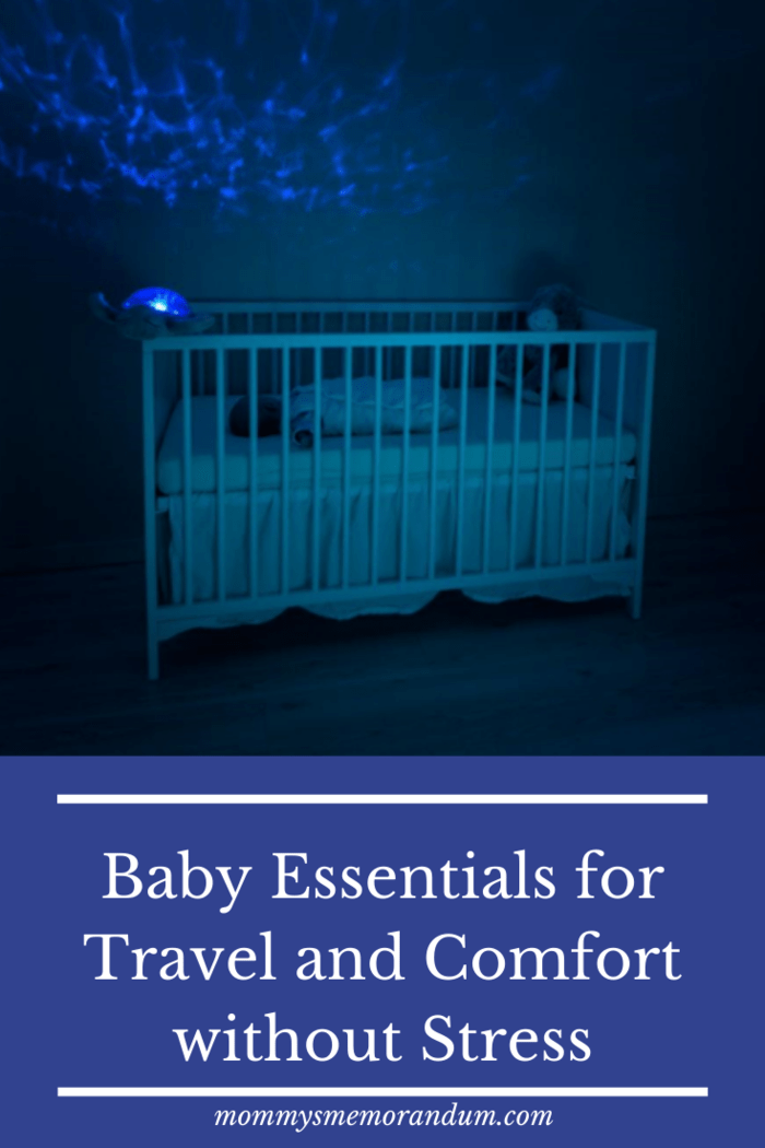 A travel baby cot is safe and clean