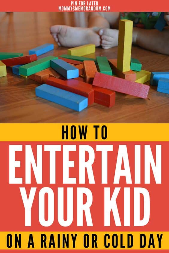 Here are some ideas of ways to keep your children and yourself busy without much of a mess.