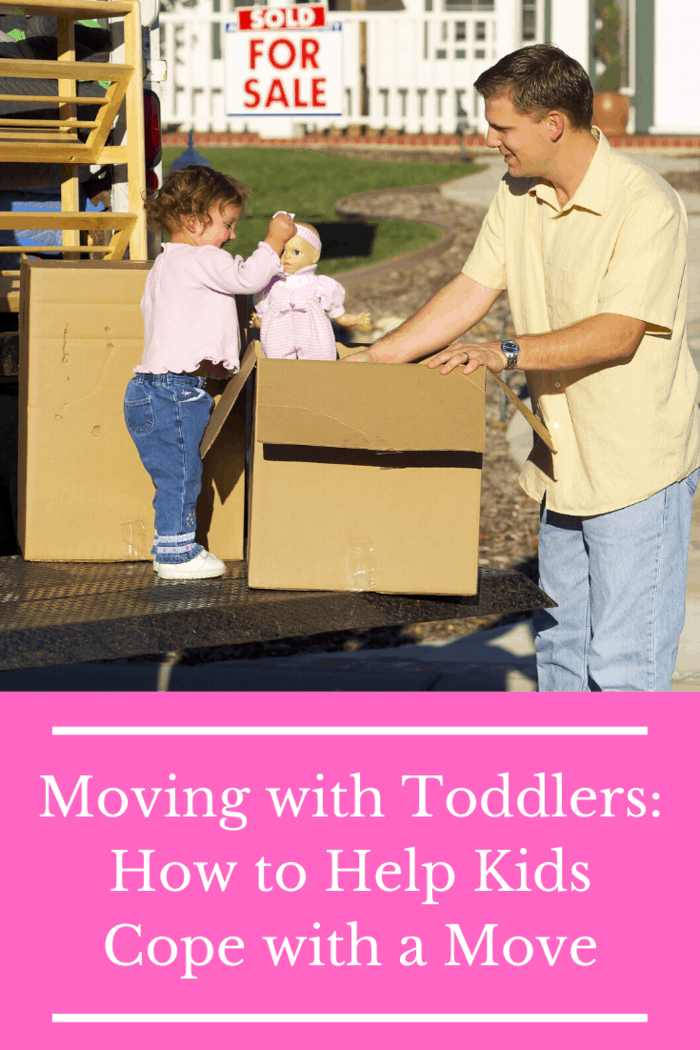 Young children, such as toddlers, rely on consistency which makes moving with toddlers challenging.