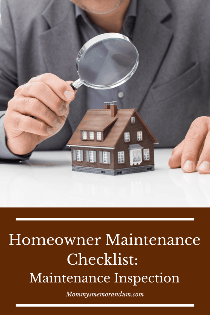 Every three to five years, it's a good idea to have an expert come in and check your house too, this is known as a maintenance inspection.