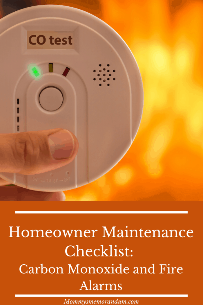 Remember it is important to check your fire and carbon monoxide detectors on a regular basis, so schedule this in at least twice a year.