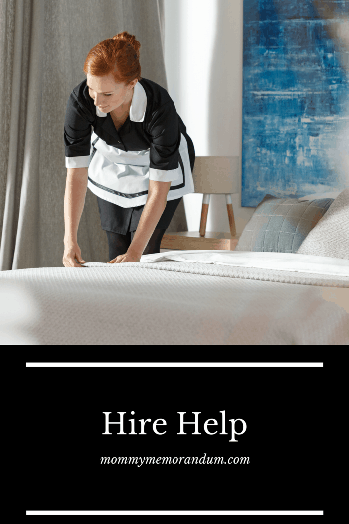 When you are injured and taking care of others, Hiring help lets you save energy and rest so you can recover quickly without letting your house fall into disarray.