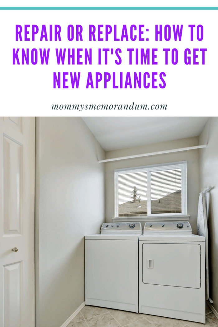 And knowing whether to repair or replace an appliance it tricky.