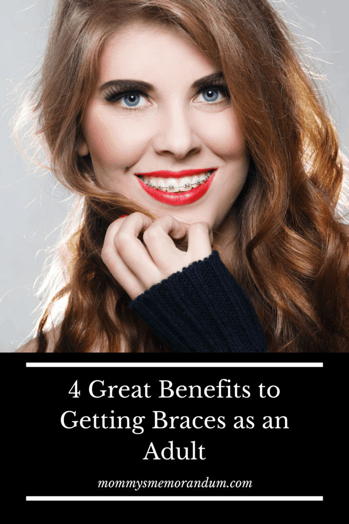 Getting braces as an adult helps dental hygiene because straight teeth are easier to brush and less likely to have damaging plaque and bacteria between them.