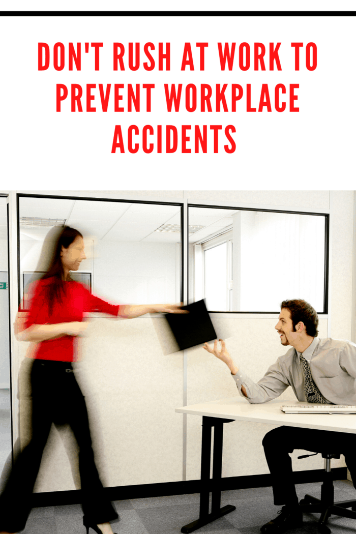 How you move around the workplace can also have a huge impact on your safety.