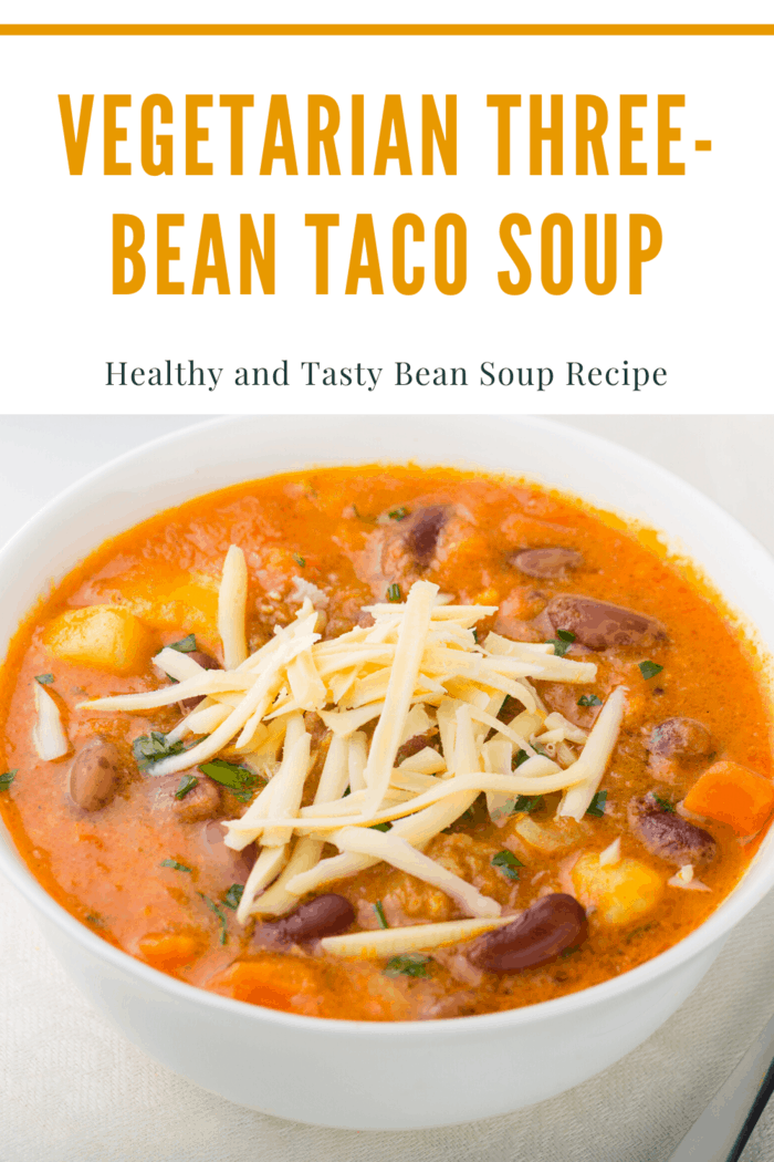The best thing about bean soup is that you can make them pretty fast with mainly canned ingredients.