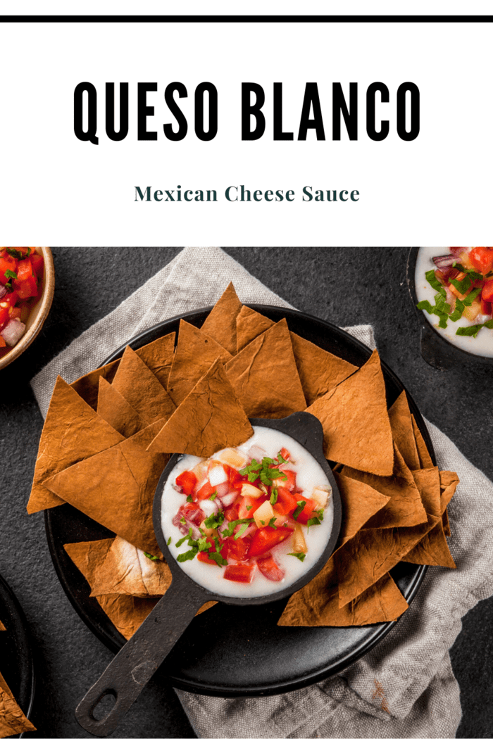 This white Mexican cheese sauce recipe is normally similar to the white cheese dips served in many Mexican restaurants.