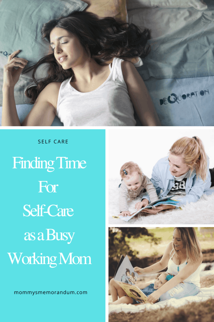 If you can, involve your children in some of your self-care.