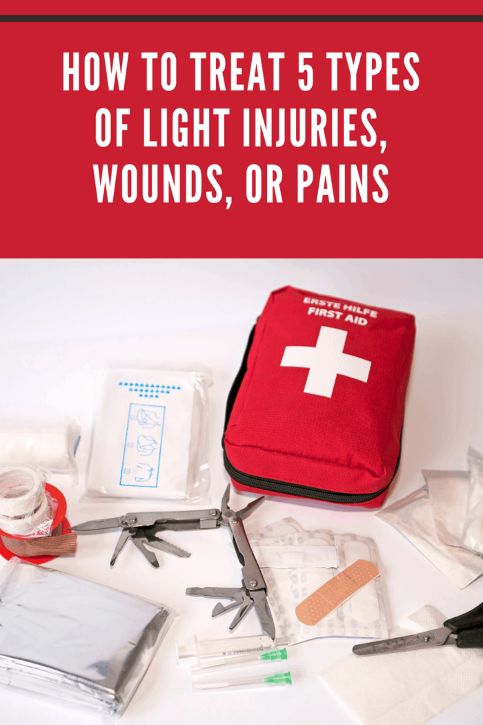 Sometimes you need a little help on how to treat light injuries, wounds or pains. We share how to treat 5 different types of common injuries