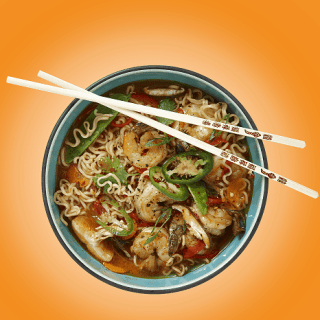 Sizzling Cha! Ramen with Shrimp #Recipe