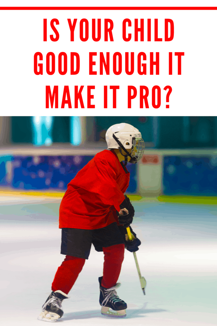 Your child is excelling at a sport and has dreams of making it in the big leagues, but is your child good enough to make it as a Pro?
