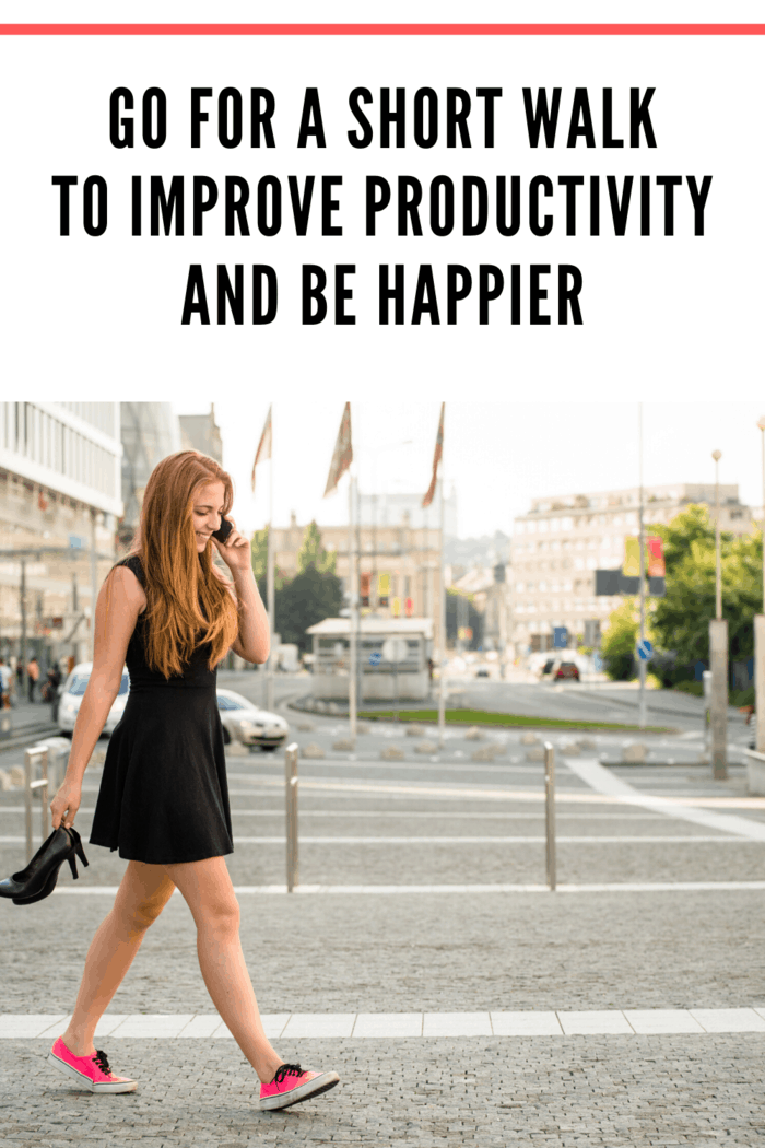 Going on short walks throughout the day can improve your productivity.