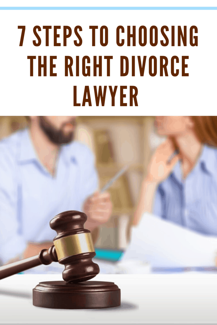 couple getting divorce and choosing the right divorce lawyer.