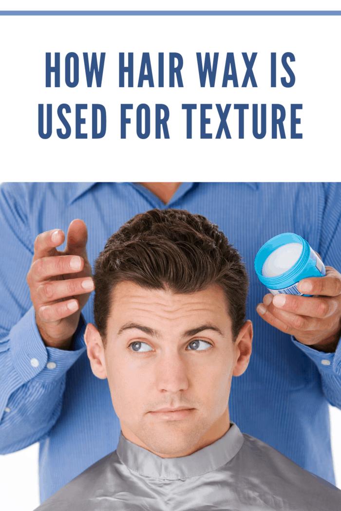 barber putting hair wax in client's hair
