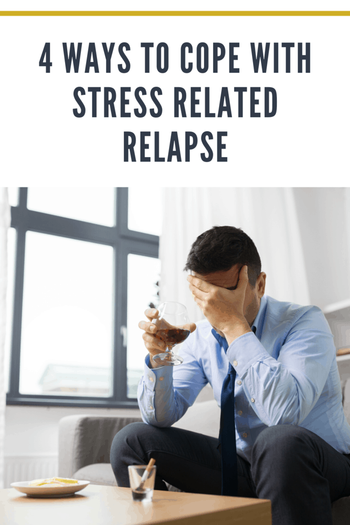 man experiencing stress related relapse