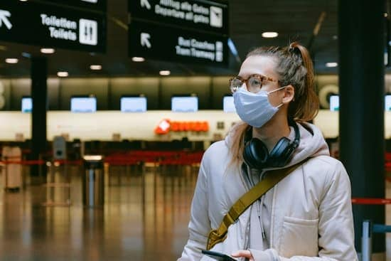 person at airport with mask