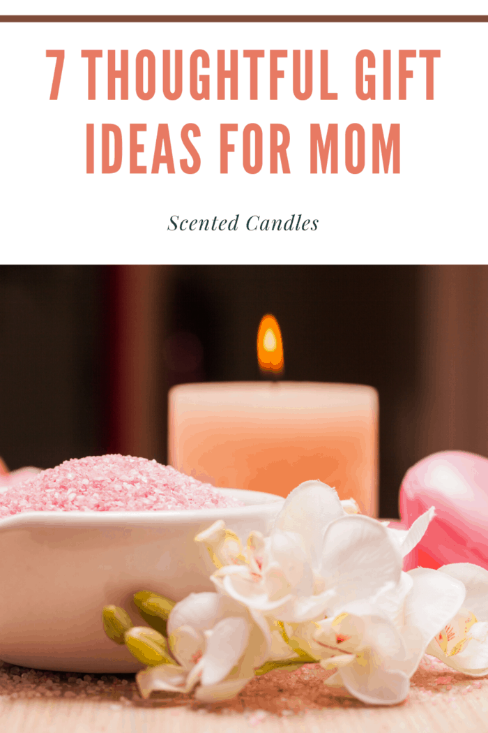 aromatherapy scented candles as a gift for mom