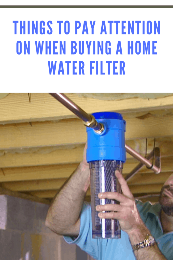 When you are already giving money for a home water filtration system, hire a professional to do the installation.