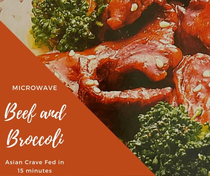 Microwave Beef and Broccoli