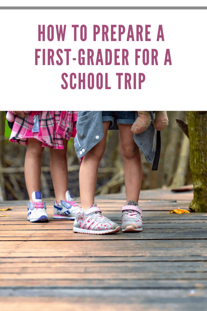 legs of first graders on a school field trip