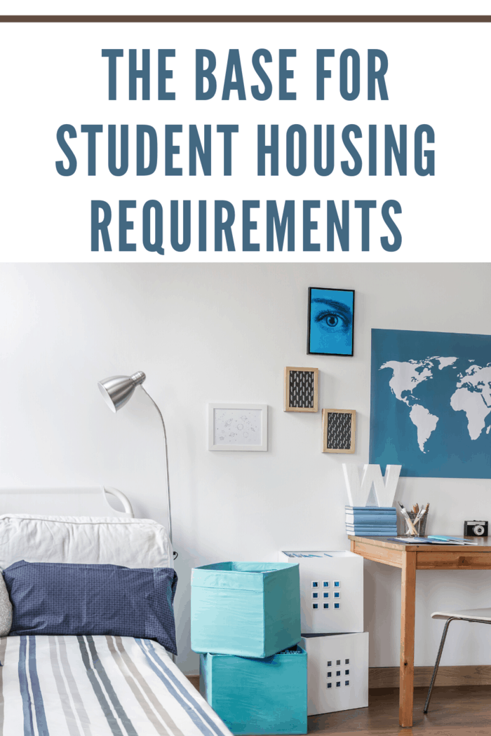 dorm room as student housing requirements