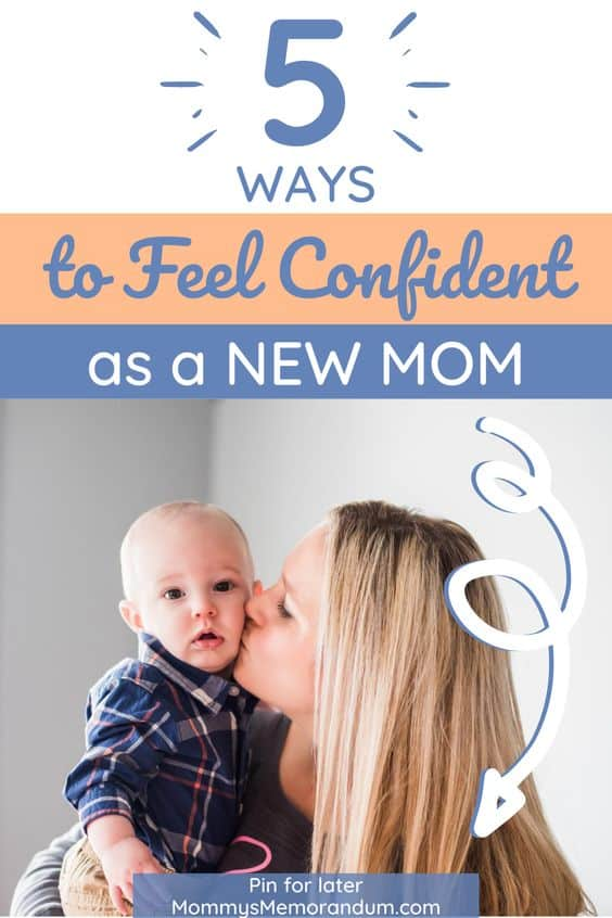 baby being kissed by new mom feeling confident