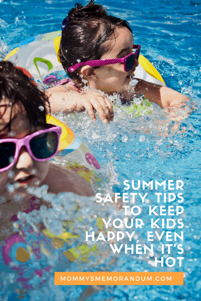 If you're looking for ways to keep your kids cool this summer while also having fun, here are a few safety tips. #summersafety #hot #safetytips