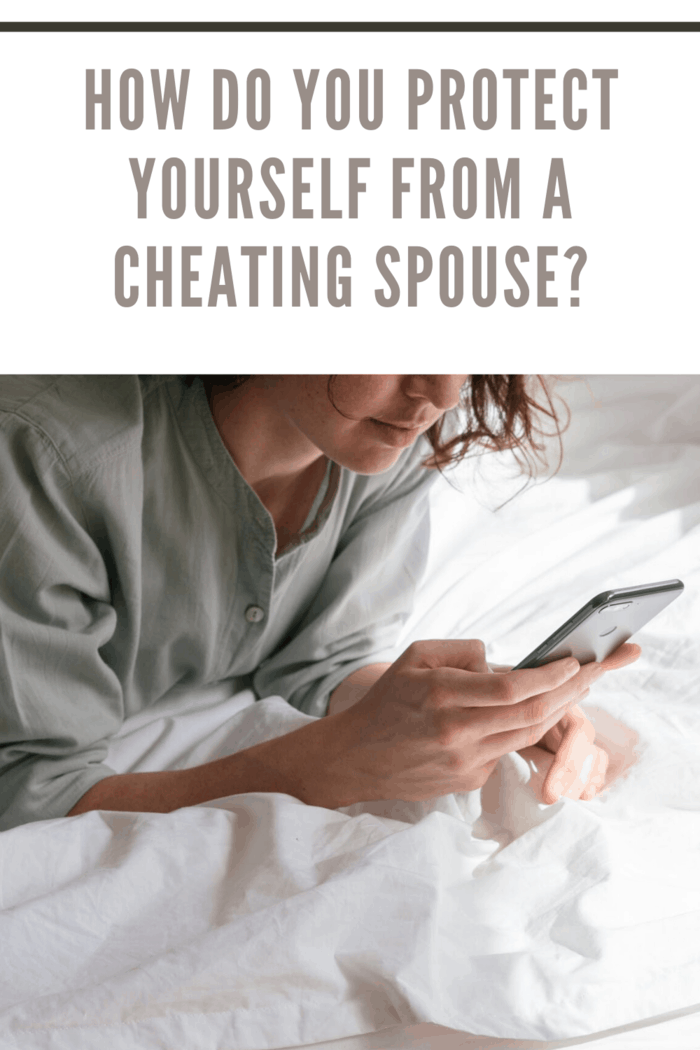woman looking through phone to see if she has a cheating spouse