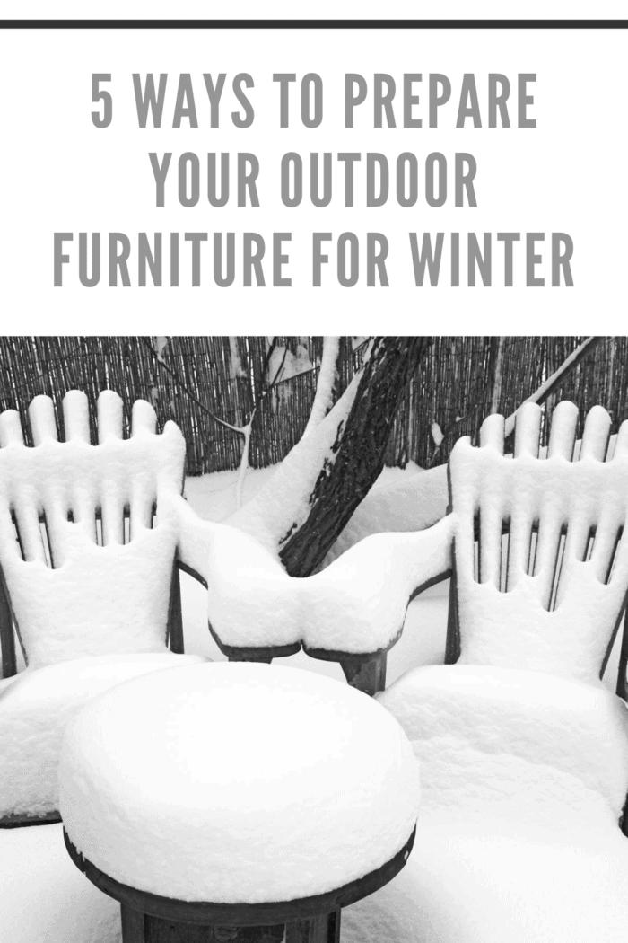 outdoor furniture in winter not put away
