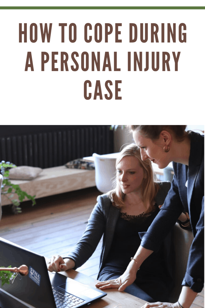 personal injury lawyer talking with client